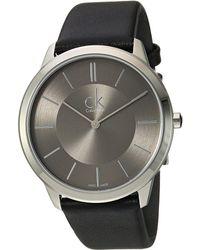 CALVIN KLEIN 205W39NYC - Minimal Watch - K3m211c4 - Lyst