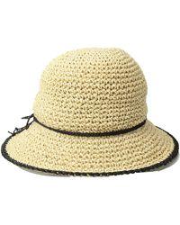 Lauren by Ralph Lauren - Packable Crochet Tipped Hat - Lyst