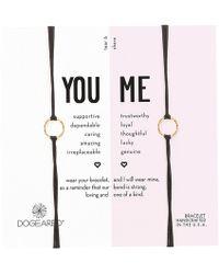 Dogeared - Friendship Sparkle Ring Bracelet Set (gold Dipped/black) Bracelet - Lyst