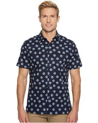 Perry Ellis - Short Sleeve Cluttered Rose Shirt - Lyst