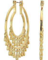 Rebecca Minkoff - Drama Teardrop Hoops Earrings (gold) Earring - Lyst