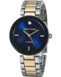 Anne Klein - Ak-1363nvtt (two-tone/navy) Watches - Lyst