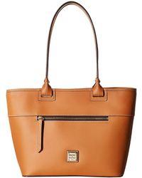 Dooney & Bourke - Beacon Zip Tote (black/black Trim) Tote Handbags - Lyst