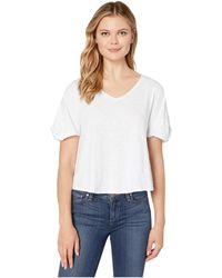 55fe323ea B Collection By Bobeau Laney Roll Sleeve Tee (heather Grey) Women's ...