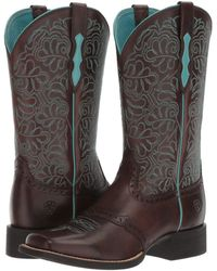 Ariat - Round Up Remuda (naturally Dark Brown) Cowboy Boots - Lyst