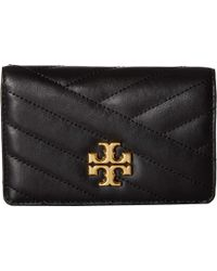 91b23e342ec4 Tory Burch - Kira Chevron Medium Slim Wallet (black) Wallet Handbags - Lyst