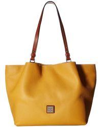 Dooney & Bourke - Pebble Flynn (wine/tan Trim) Handbags - Lyst