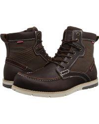 Levi's - Levi's(r) Shoes Dawson (burgundy) Men's Lace-up Boots - Lyst