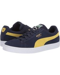 Lyst - PUMA Suede Classic (peacoat blazing Yellow) Athletic Shoes in ... ce0be00a2