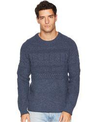 Obermeyer - Textured Crew Neck Sweater (zinc Grey) Men's Sweater - Lyst