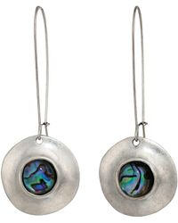 Robert Lee Morris - Abalone Disc Drop Earrings (abalone) Earring - Lyst