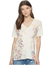 Lucky Brand - White Floral Tee - Lyst