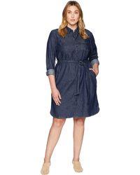 Lauren by Ralph Lauren - Plus Size Denim Shirtdress (pure Rinse Wash) Women's Dress - Lyst