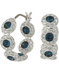 Swarovski Angelic Hoop Pierced Earrings Teal Earring Lyst