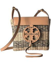 da5ece0ed0d2 Tory Burch - Miller Stripe Straw Crossbody (natural black) Handbags - Lyst