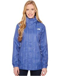 The North Face - Resolve Parka (blue Wing Teal Triangle Dot Print) Women's Coat - Lyst