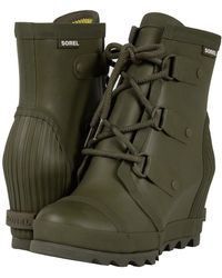 Sorel - Joan Rain Wedge (nori/zest) Women's Rain Boots - Lyst