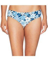 MICHAEL Michael Kors - Cherry Summer Flower Shirred Smooth Fit Cheeky Bikini Bottoms (new Navy) Women's Swimwear - Lyst