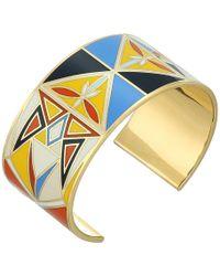 Tory Burch - Kaleidoscope Enamel Cuff Bracelet - Lyst