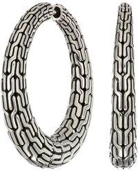 John Hardy - Classic Chain Graduated Small Hoop Earrings (silver) Earring - Lyst