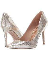 c1920aa84dd Sam Edelman - Hazel (molten Gold New Glamour Lizard Print Leather) Women s  Shoes -