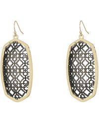 Kendra Scott - Danielle Earring (rhodium/ivory Mother-of-pearl) Earring - Lyst