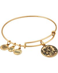 ALEX AND ANI - Saint Anthony Ii Bangle (rafaelian Gold) Bracelet - Lyst