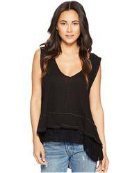 Free People - Peachy Tee (black) Women's T Shirt - Lyst