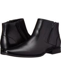 Calvin Klein - Beck (black Leather) Men's Zip Boots - Lyst