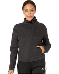 adidas Heather Cover-up (black/charcoal Solid Grey) Women's Coat