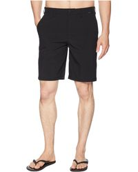 Hurley - Phantom Hybrid Walkshorts (black Heather) Men's Shorts - Lyst
