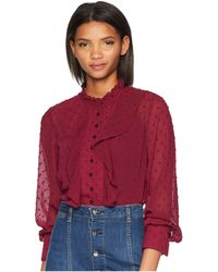 9af236d2640d8 Kensie - Crinkle Dot Blouse Ks0k4771 (berry Juice) Women s Blouse - Lyst