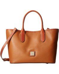 Dooney & Bourke - Pebble Brielle (black W/ Tan Trim) Handbags - Lyst
