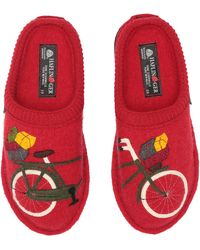 Haflinger - Bicycle (red) Women's Slippers - Lyst