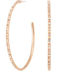 Kendra Scott - Val Earrings (rose Gold/iridescent Crystal) Earring - Lyst