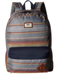 vans old skool ii backpack - brilliant blue speckle