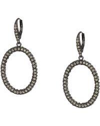 Lauren by Ralph Lauren - Pave Hoop Earrings (jet) Earring - Lyst