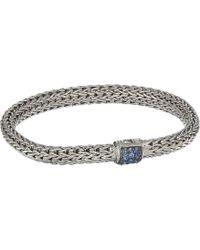 John Hardy - Classic Chain 6.5mm Bracelet With Blue Sapphire (silver) Bracelet - Lyst