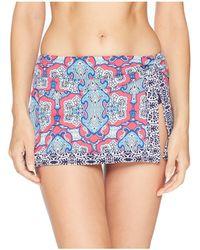 Tommy Bahama - Riviera Tile Skirted Hipster (cerise) Women's Swimwear - Lyst