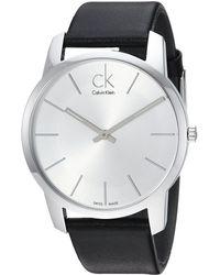 Calvin Klein - City Watch - K2g211c6 (silver/black) Watches - Lyst