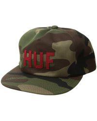 25a8210eba8 Huf - Corps Snapback Hat (woodland Camo) Caps - Lyst
