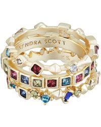 Kendra Scott - Karis Ring (gold Jewel/tone Mix) Ring - Lyst