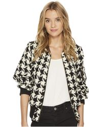 Bishop + Young - Houndstooth Bomber - Lyst