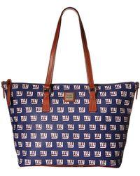 Dooney & Bourke - Nfl Zip Top Shopper (seattle) Top-zip Handbags - Lyst