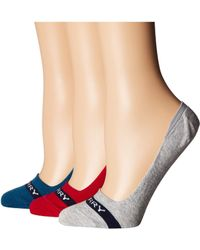 Sperry Top-Sider - 3-pack Signature Invisible Liners (teal Marl Assorted) Women's No Show Socks Shoes - Lyst