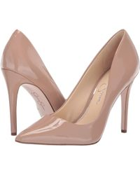 387ce57ee1b Lyst - Jessica Simpson Praylee (black Soft Nappa Silk) High Heels in ...