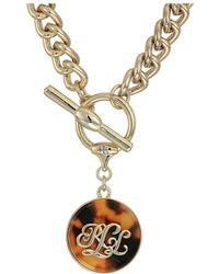 Lauren by Ralph Lauren - Tortoise 18 Pendant Necklace (gold) Necklace - Lyst