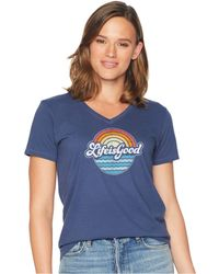 Life Is Good. - Beachy Lig Crusher Vee (darkest Blue) Women's T Shirt - Lyst
