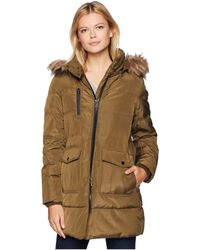 Marc New York - Astoria Down Filled Anorak With Faux Fur Trim Hood Patch Pockets (haze) Women's Coat - Lyst
