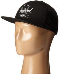 Herschel Supply Co. - Whaler (black) Caps - Lyst
